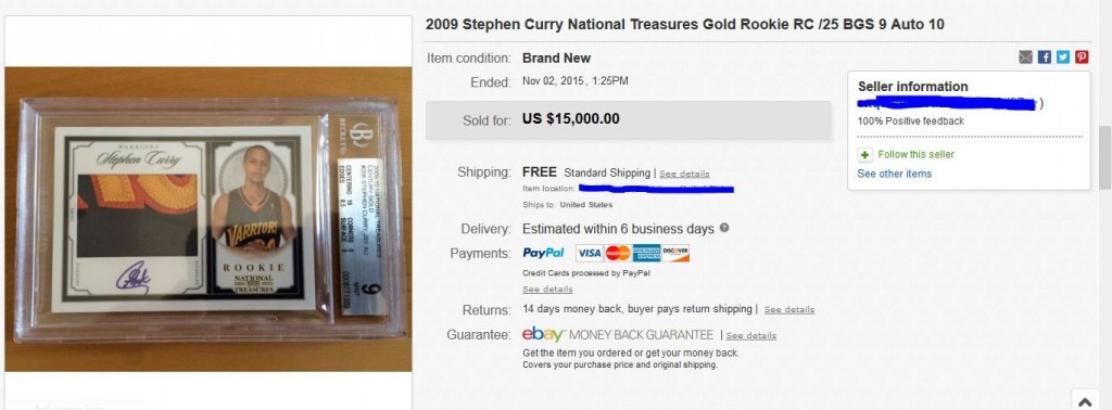 Stephen Curry 2009-10 National Treasures Gold Autograph rookie card