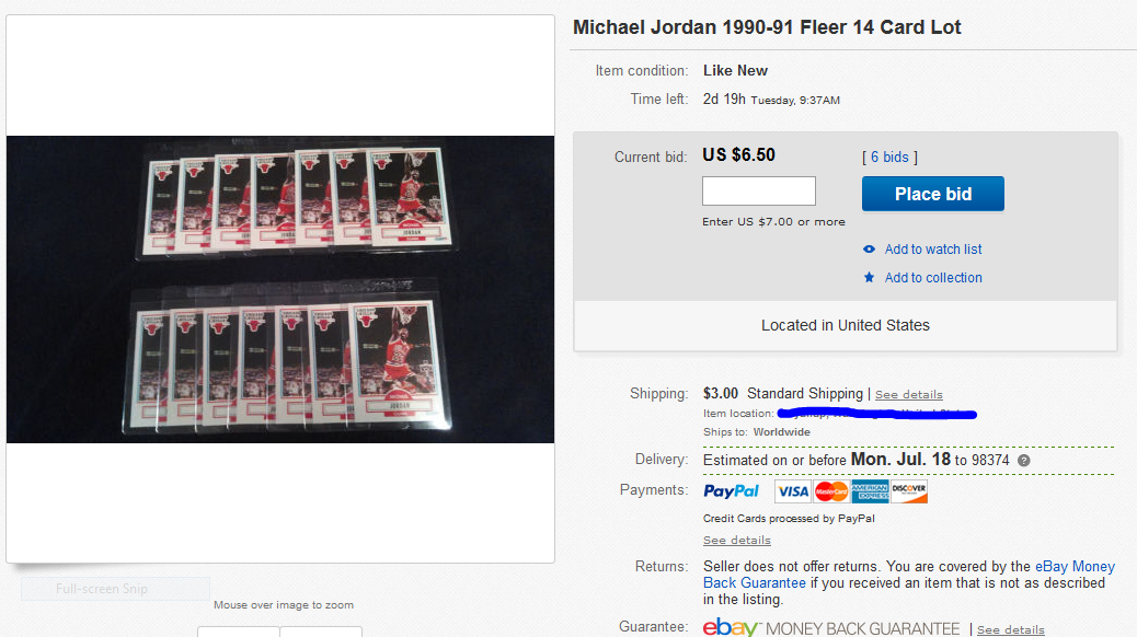 Michael Jordan 1990-91 Fleer 14 Card Lot