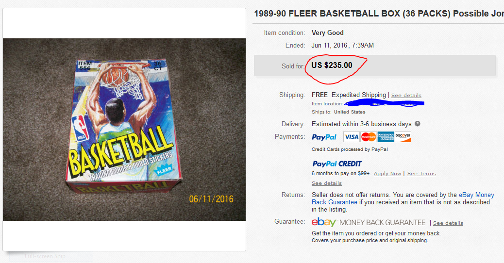 1989-90 Fleer Unopened Box