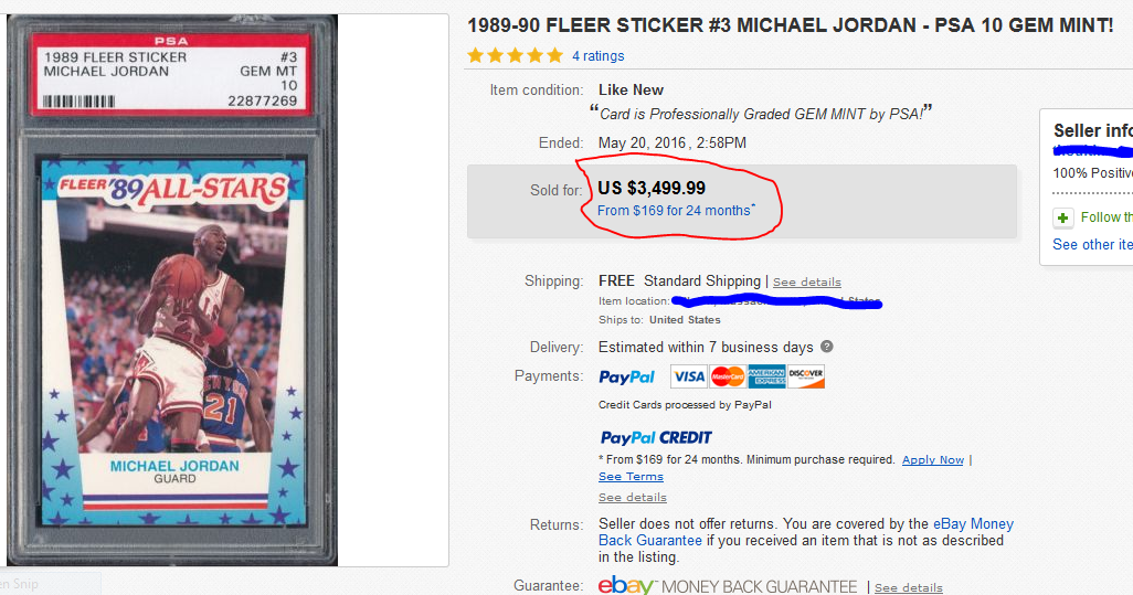 Michael Jordan 1989-90 Fleer All-Star Sticker