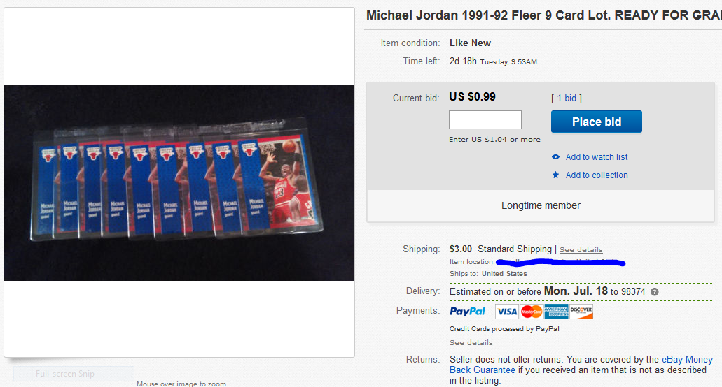 9 card lot of 1991-92 Fleer Michael Jordan cards