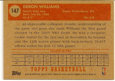 deron-williams-2005-06-topps-1952-style-rookie-card-back