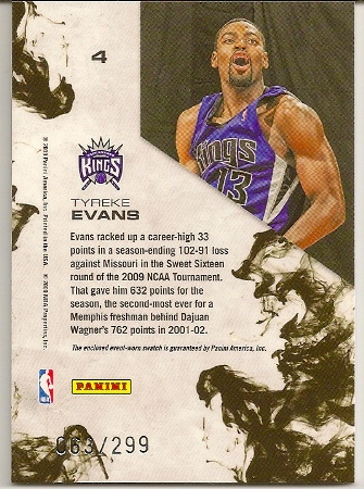 Tyreke Evans 2009-10 Rookies   Stars Longevity Dress For Success ... 17bce0cef