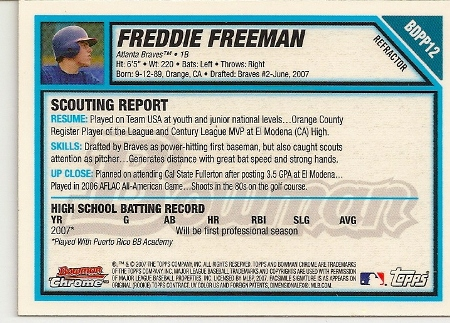 freddie-freeman-2007-bowman-chrome-refractor-rookie-card-back