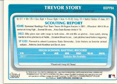 trevor-story-2011-bowman-chrome-rookie-card-back